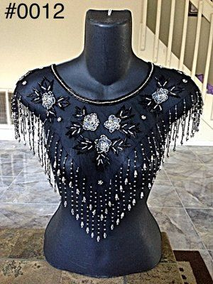 Shawl scarf poncho Sequin Collar with Beads by Mieluz on Etsy