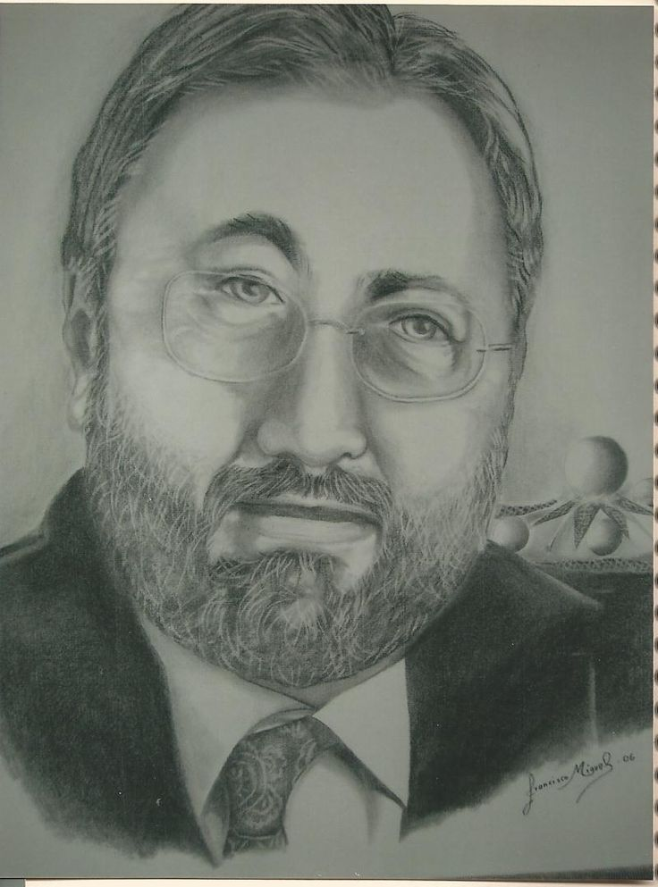 retrato, carboncillo