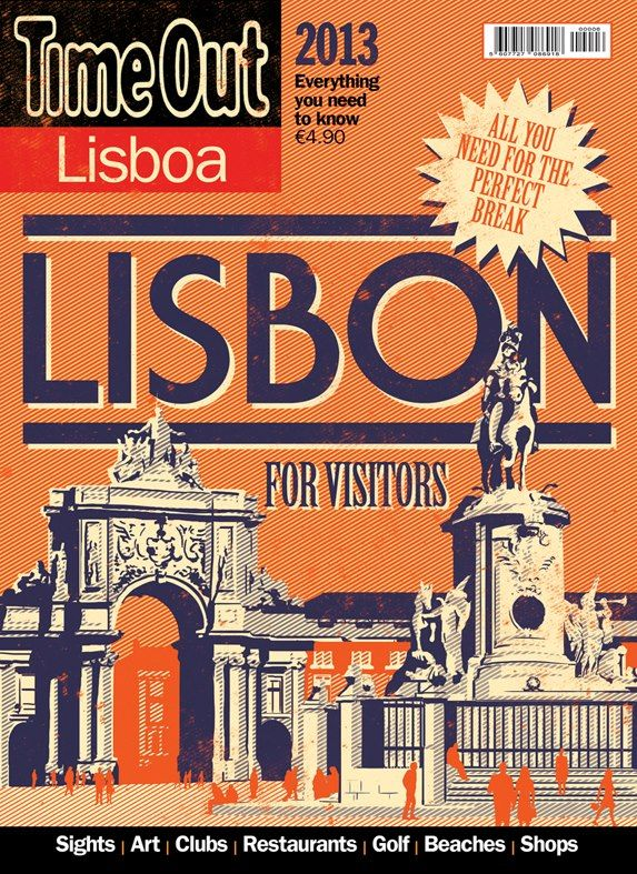 Cover for Time Out Lisbon for Visitors 2013. I made this cover along with Algarve and Porto for Visitors. The idea was to built a small collection with the vintage feel of old portuguese stamps. Few colors, high contrast, low detail illustrations, with a known landmark or highlight. I liked it a lot.