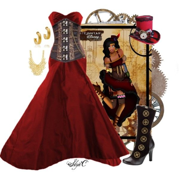 """Esmeralda - Steampunk - Disney's The Hunchback of Notre-Dame"" by rubytyra on Polyvore"