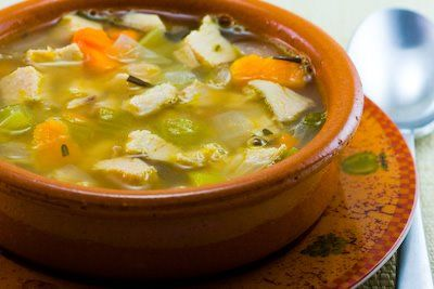 Recipe for Turkey and Cannellini Bean Soup with Sweet Potatoes and Rosemary [from Kalyn's Kitchen]