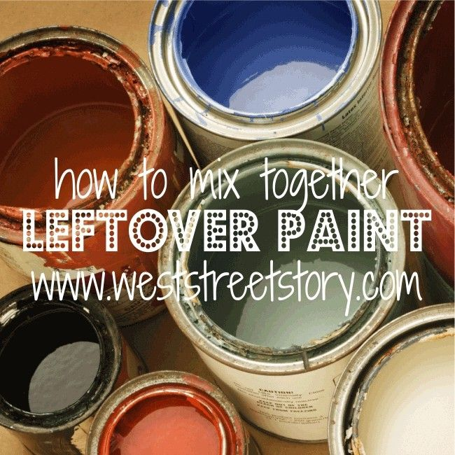 { photo via + } A few days ago I shared with you how I took 29 {more than half-used} gallons of leftover paint and started mixing until I got enough paint to cover my living room walls.  This color has turned out to be my favorite in the house, thus far!  But, I have …
