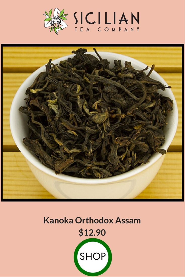 This is one of my favorite teas right now. This Kanoka Othodox Assam tea has rich flavors lasting up to 5 steeps. This tea is hand picked & hand processed at the Kanoka Tea Estate in India. Hand processing results in large, full leaves giving this tea complexity.