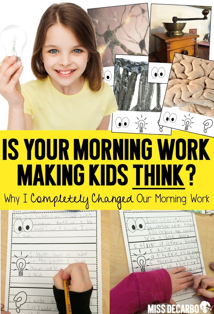 "Morning work doesn't have to be ""busy work!"" Wake up your students' brains and get them ready to THINK! Find out how I flipped my morning work and turned it into a valuable teaching time in order to pre-expose content, build writing skills, increase critical thinking abilities, and integrate social studies and science content! Learn how to set up your morning work so that ANY child, of ANY skill level can feel confident and successful EVERY morning!"