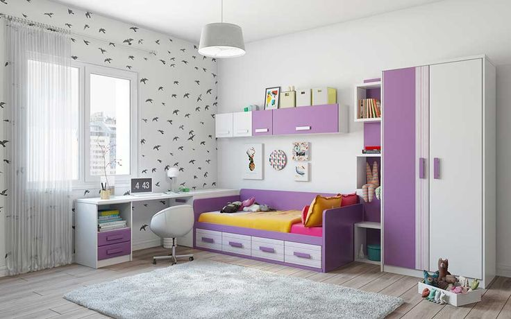 Interior Design Ideas for Bedroom with purple and white kids roomInterior Design Ideas for Bedroom with purple and white kids room