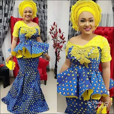 Latest Beautiful Ankara Skirt and Blouse Styles for Owambe Guests (2018)