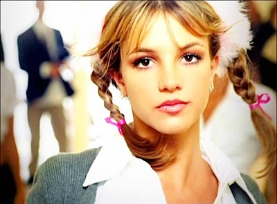 "Britney Spears - Hit Me Baby One More Time. Late 1990s and 2000s pop princess. When she was still ""innocent."" And dating Justin Timberlake.  Lol"