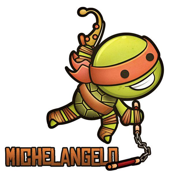 Kawaii Mutant Ninja Turtles by Squid , via Behance