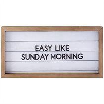 "Motto Frame – Easy Like Sunday Morning, 18.5"" x 9.5"""