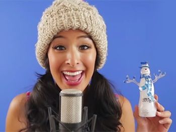 Watch Aladdin's Courtney Reed Pay Ultimate Tribute to Frozen