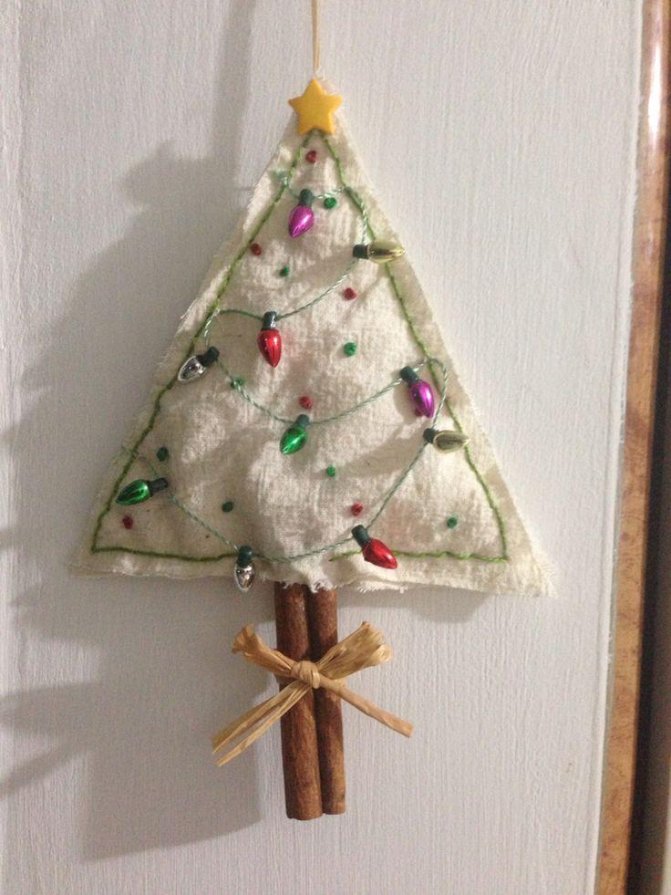 Arbolito navideño con canela