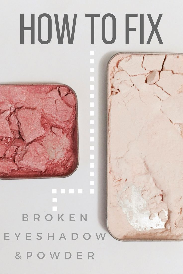 Try this amazing DIY hack for fixing your broken eyeshadows and powders! It's really quick and easy!