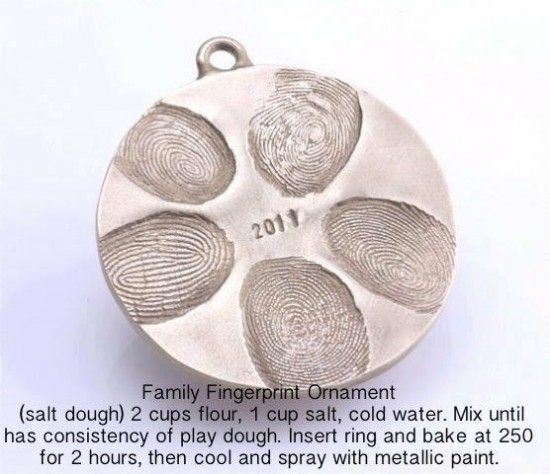 DIY Family Fingerprint Ornament - The Frugal Female   Could also do a paw print ~