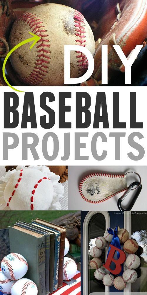 DIY Baseball Projects perfect for any baseball fan!