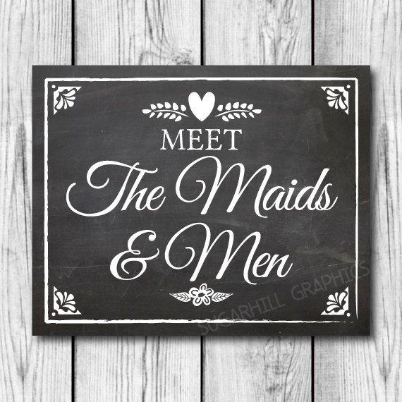 Chalkboard Wedding Sign, Printable Wedding Sign, Wedding