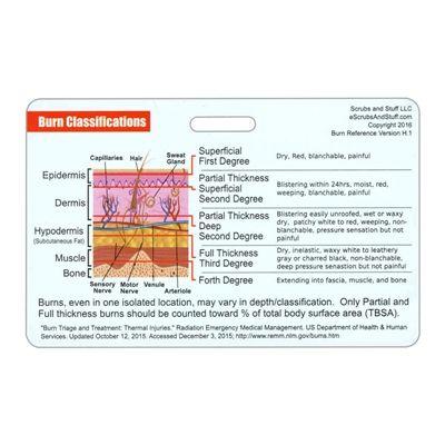 Burn Classifications and Parkland Formula Horizontal Badge Card