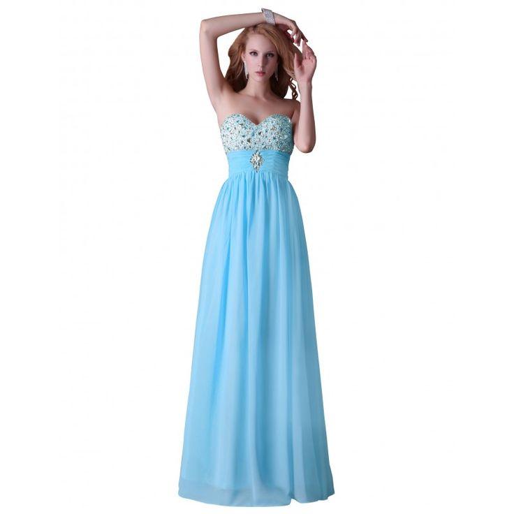 Modré spoločenské šaty CL3524