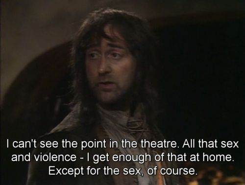 Oh Baldrick.  The Blackadder