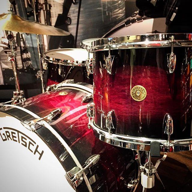 A stunning @gretschdrums Broadkaster kit! #namm #namm2016 #drums #drum #new…