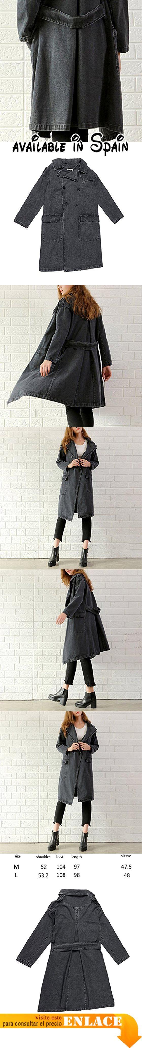 B076FTPRRC : Honghu Mujer Encapuchado Chaquetas Silm Fit Jeans Manga Larga Cárdigan Corta Abrigo Vaquera Large Gris. Material: Denim. Métodos de lactancia: lavado a máquina o lavado a mano. Invierno preferido seleccionados de alta calidad plumas cálido y bueno hermoso diseño exquisita sastrería con una hermosa cremallera le traen un sentido de la moda al mismo tiempo le dan calidez. Advertencia: 1. Como resultado de la luz ángulo de tiro y otras razones el