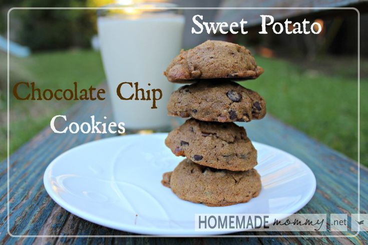 Sweet Potato Chocolate Chip Cookies: Chocolate Chips, Chocolates Chips Cookies, Potatoes Chocolates, Coconut Oil, Cookies Recipe, Gluten Free, Chocolate Chip Cookies, Cookie Recipes, Sweets Potatoes