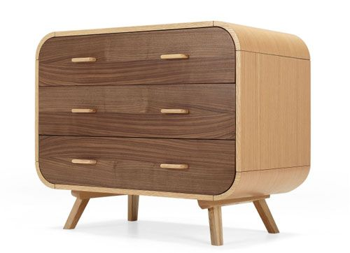 Retro-style Fonteyn chest of drawers at Made
