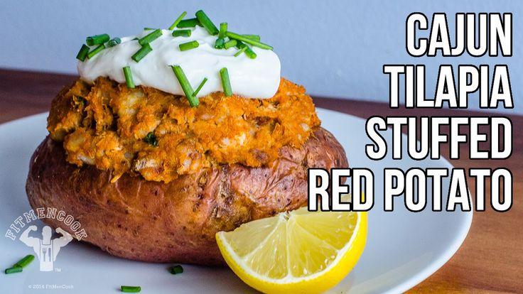 Cajun Tilapia Stuffed Red Potato