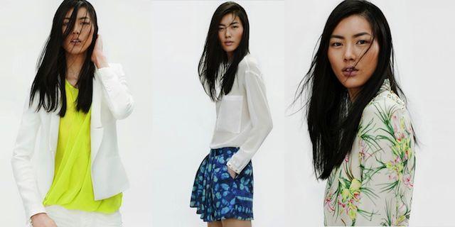 Zara Gele top, witte blouse met grote zakken