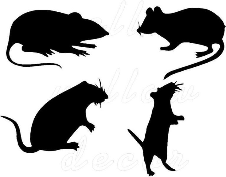 halloween rats vinyl wall decor spooky art 800 via etsy