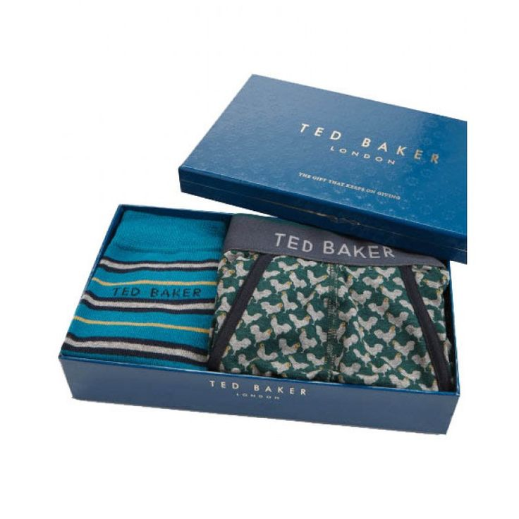 Ted Baker FAMYARD Boxer set Striped sock and boxer shorts gift set | John-Andy.com