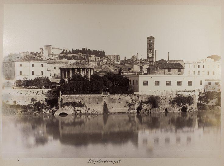 Veduta dello sbocco della Cloaca Massima nel fiume Tevere - Alinari - 1870:75