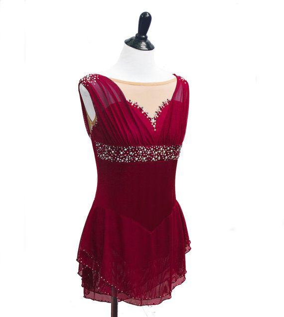 Custom Figure Skating Dress by RichelleJonesDesigns on Etsy