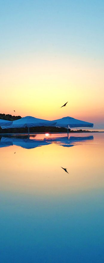Sunset from Rimondi Grand Resort & Spa in Stavromenos, Rethymno