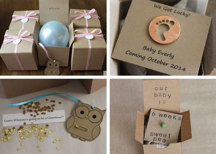Baby Gift Announcement : Creative pregnancy announcement ideas