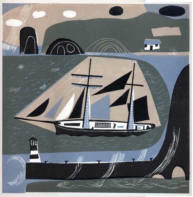 Linocut Prints by Melvyn Evans