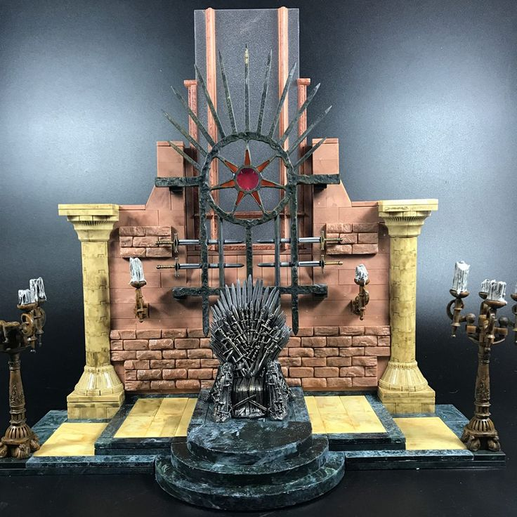 Finally got some time to assemble this mini Iron Throne set by McFarlane toys from Game of Thrones. Very intricate and detailed. A beautiful piece I'm happy to own.  Click the pic to get yours!