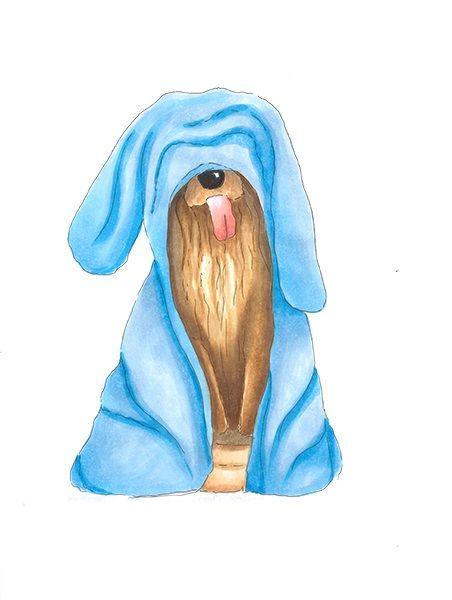 Funny dog | drawn by Anastasia Opachanova