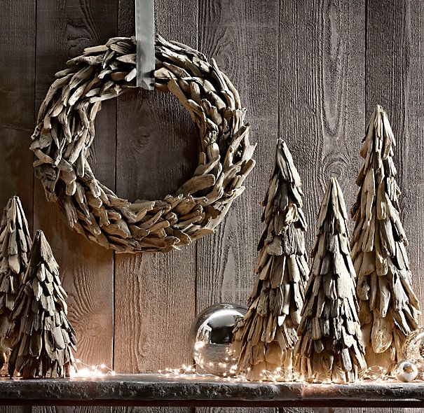 """Driftwood Wreath 24""""  @Chandra Brooks  I pinned this for you.  These would be so cute in your house for christmas"""