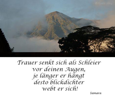 #Trauer senkt sich als Schleier vor Deinen Augen, je länger er hängt desto blickdichter webt er sich!