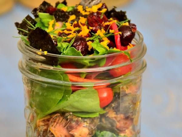 10 Meals In Mason Jars You Have To Try: Sardine Salad Jar http://www.prevention.com/food/healthy-recipes/10-amazing-mason-jar-recipes?s=11&?cid=social_20140502_23123044&cm_mmc=Facebook-_-Prevention-_-food-healthyrecipes-_-10masonjarrecipes