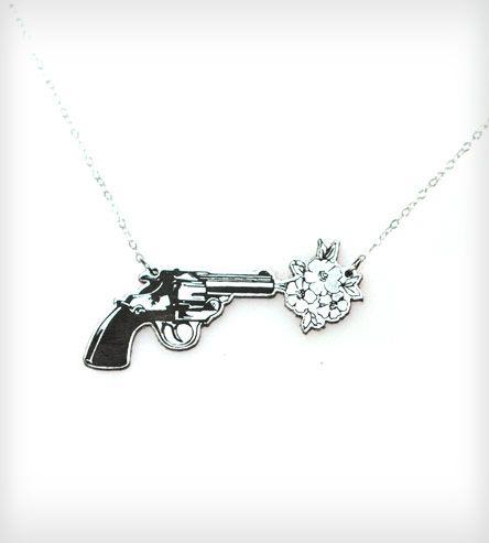 Acrylic Flower Revolver Necklace