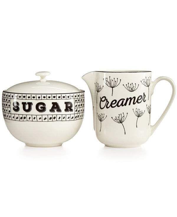 Macy's wedding registry - Vintage Sugar & Creamer Set