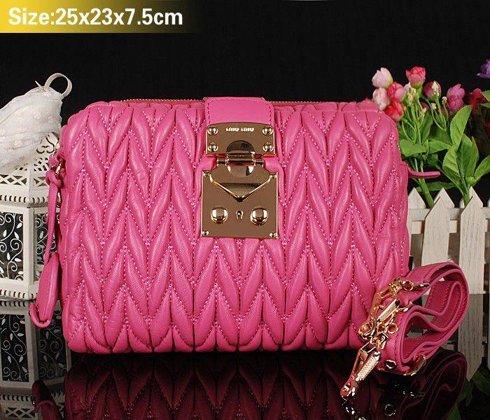 Miu Miu Newest Matelasse Cherry Pink Clutch Bag #bagsforsale