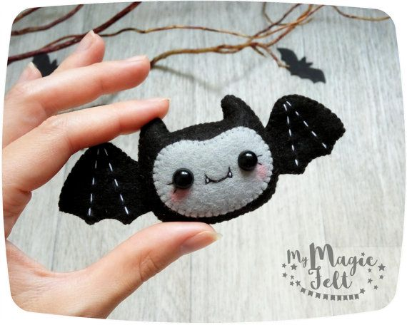 Fieltro decoración de Halloween ornamento Bat por MyMagicFelt