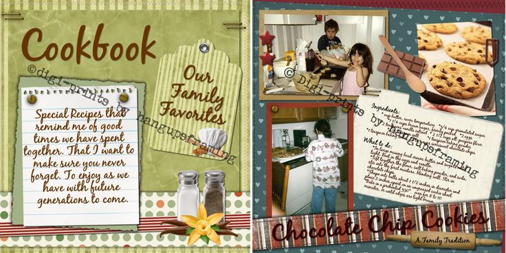 Definitely want to include progress pictures, as well as pictures of the end results, in our family cookbook