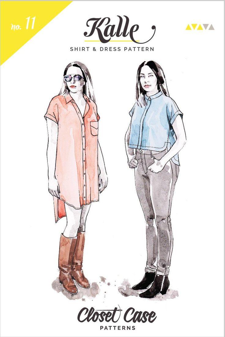 Kalle Shirt + Shirt-Dress Pattern // Pattern Envelope // Closet Case Patterns