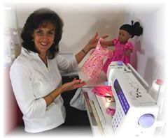 Rosie's # 1 secret on how to make Sewing Doll Clothes the easy way! (Video)