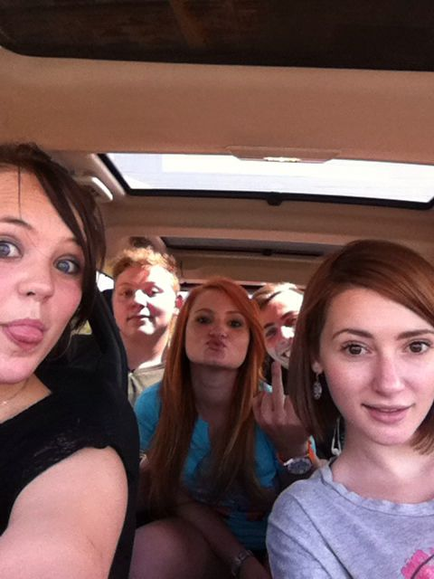 Crazy people in my car hhehe