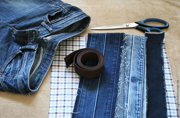 Шьем летнюю сумку из джинсовых поясов - Ярмарка Мастеров - ручная работа, handmade