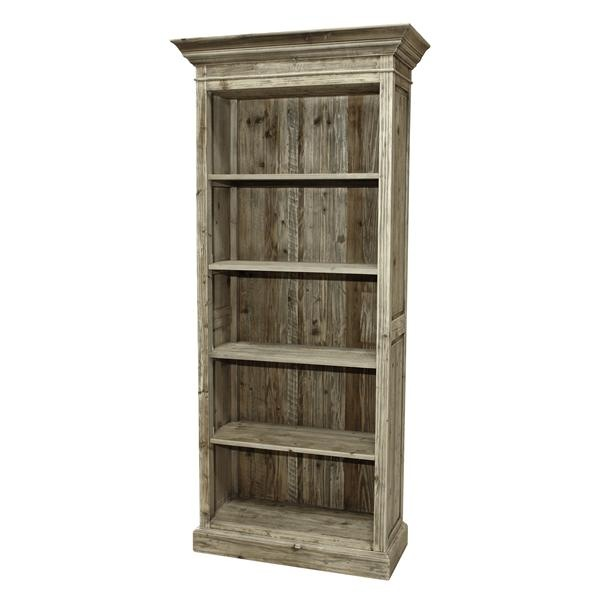 BLEACHED PINE SINGLE BOOKSHELF